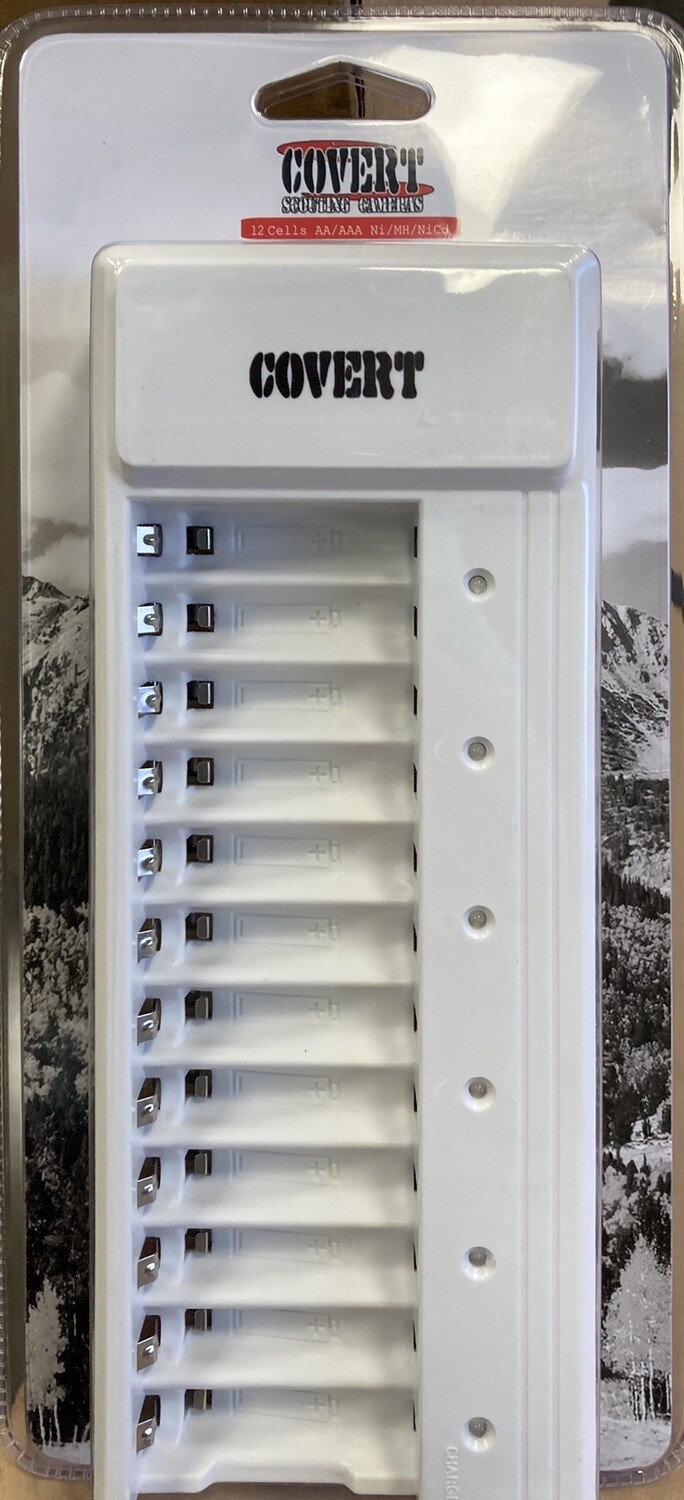 Covert 12 Bay Rapid Battery Charger