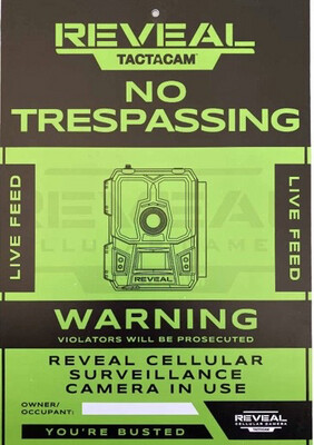 Tactacam No Trespassing Sign-3 Pack
