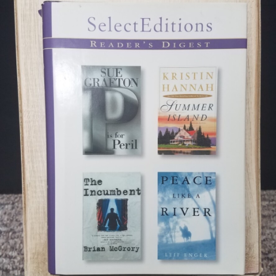 P is for Peril, Summer Island, The Incumbent, and Peace Like a River by Readers Digest