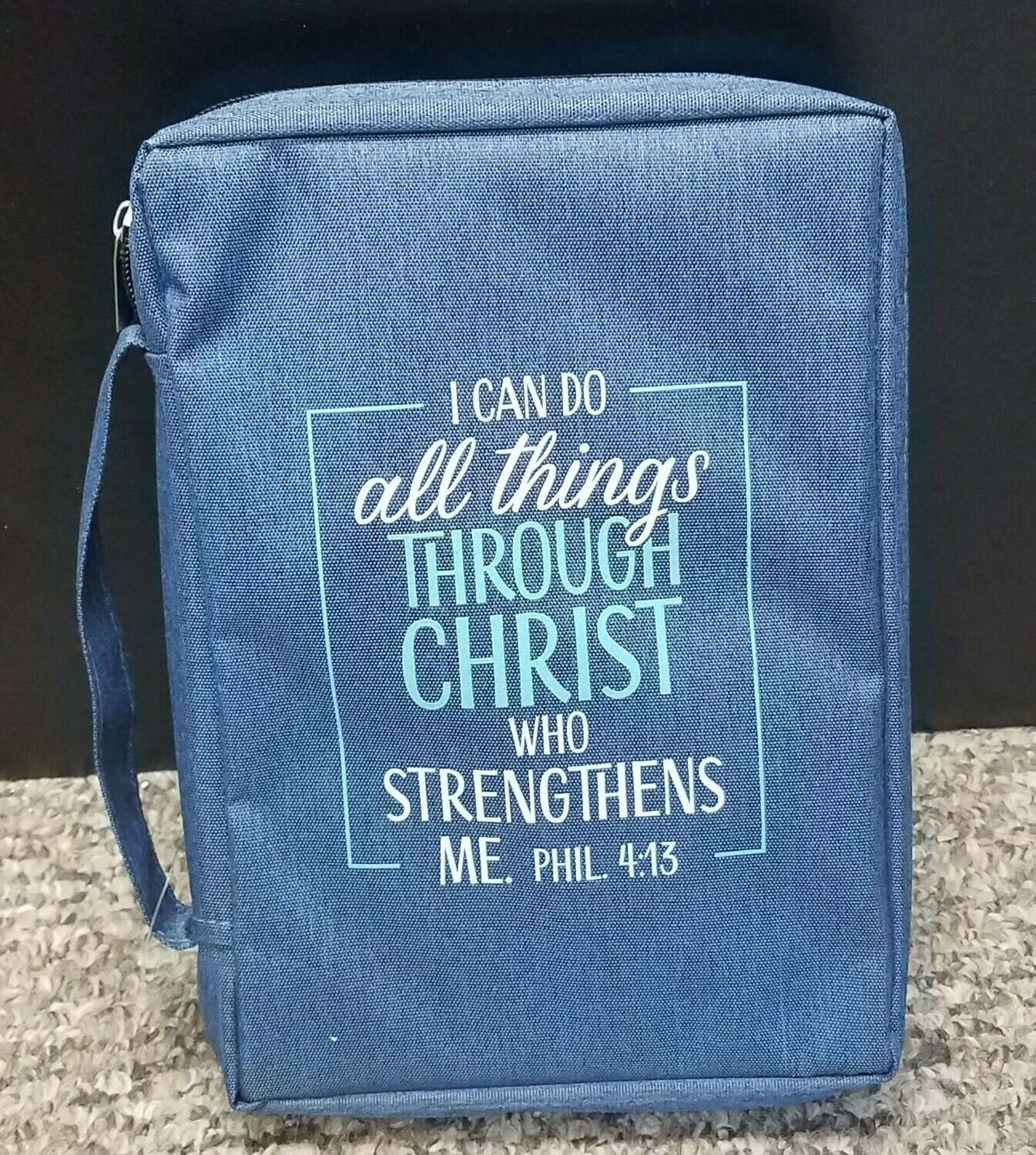 """""""All Things Through Christ"""" Bible Cover - Large"""