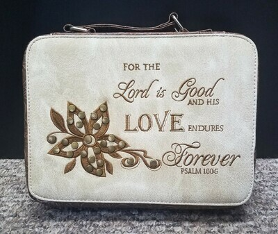 For the Lord is Good and His Love Endures Forever Bible Cover