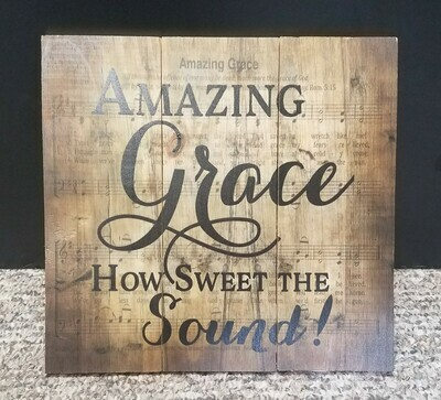 Amazing Grace Handmade Wall Decor