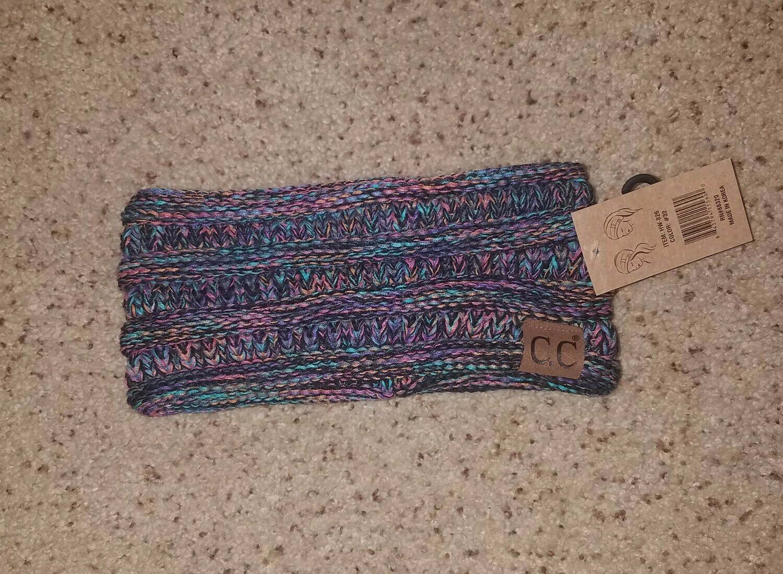 C.C. Four-Tone Ribbed Knit Headwrap - Multi Black