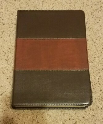 HCSB Holman Super Giant Print Reference Bible - SaddleBrown Leather Touch