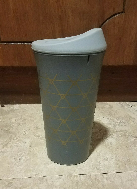 Decorative Silicone 16 oz. Cup - Grey