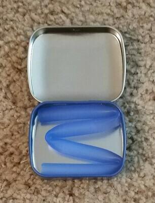Silicone Reusable Straws - Blue
