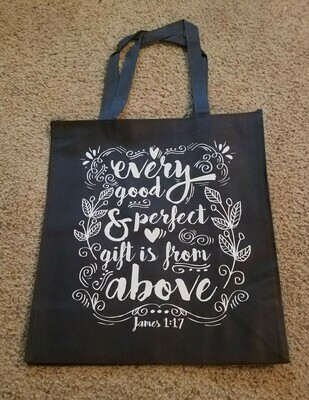 Every Good and Perfect Gift is from Above Tote Bag