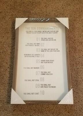 The 10 Commandments Wall Decor