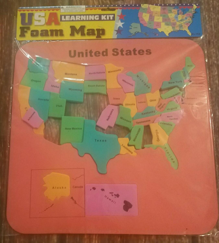 U.S.A. Foam Map