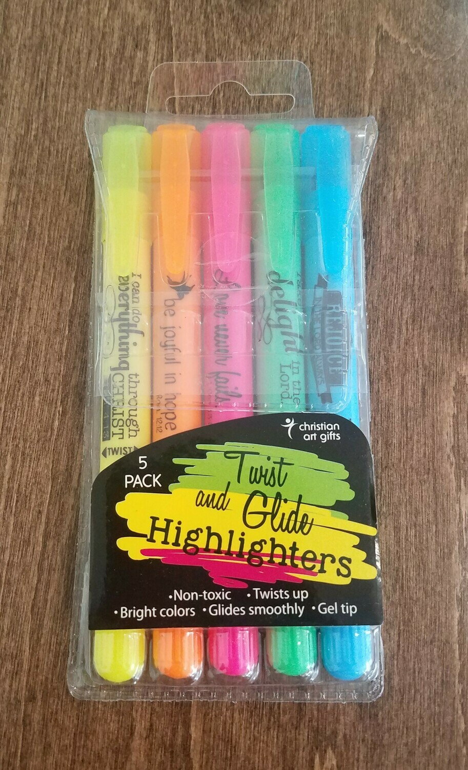 Twist and Glide 5 Piece Highlighters