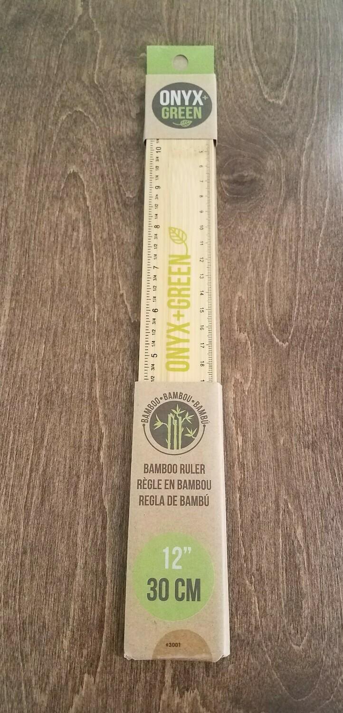 12 Inch Bamboo Ruler