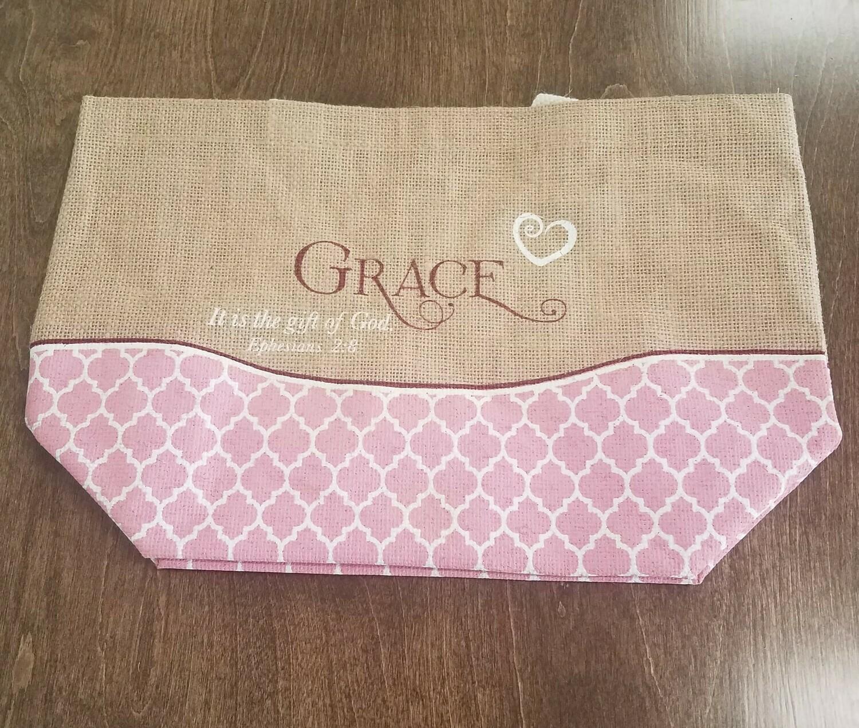 Grace Purse-Style Jute Tote Bag