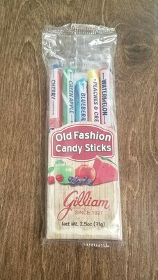 Old Fashioned Candy Sticks - Peaches and Cream, Green Apple, Watermelon, Blueberry, and Cherry