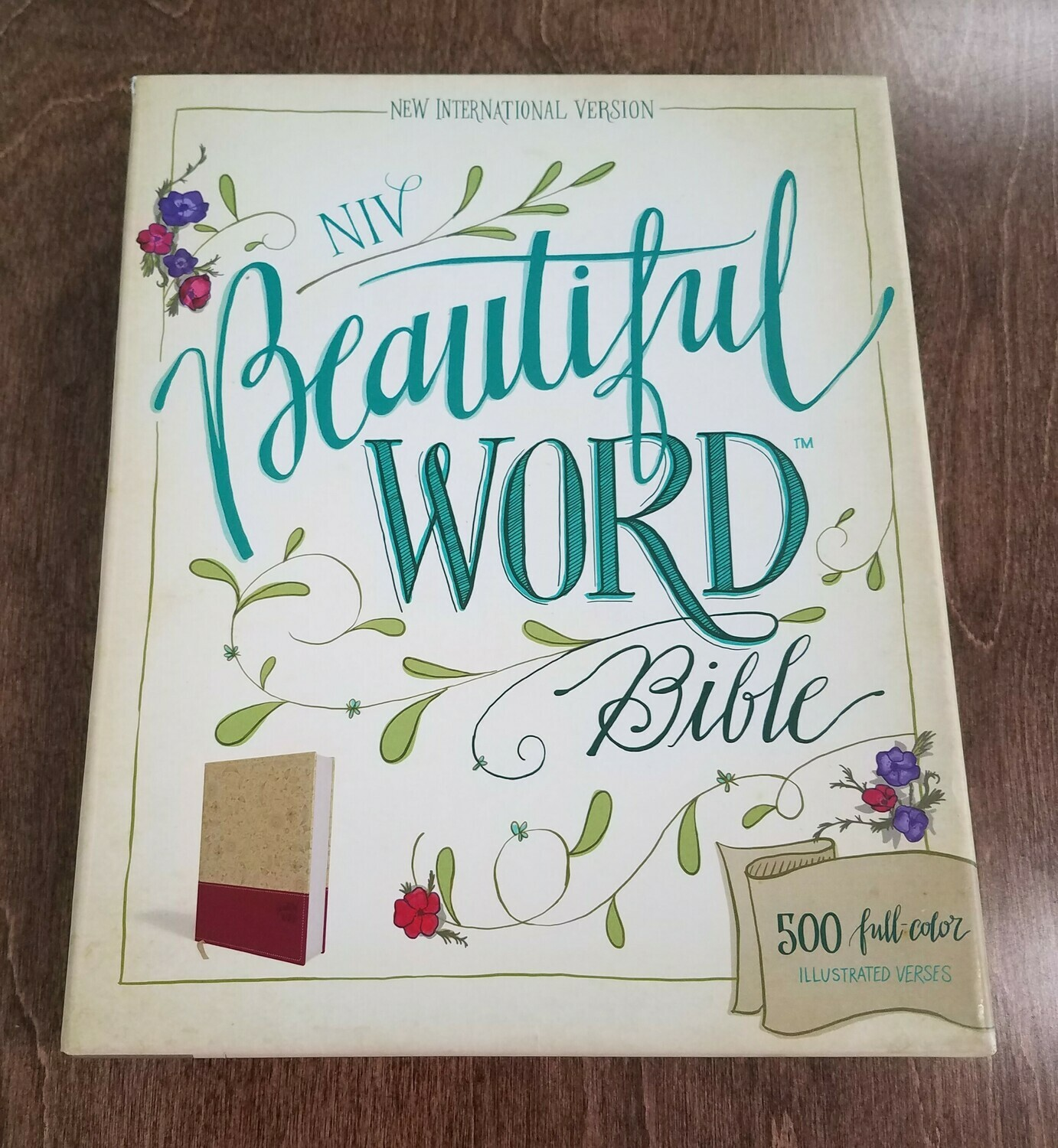 NIV Beautiful Word Bible - Softcover - Taupe/Cranberry Color