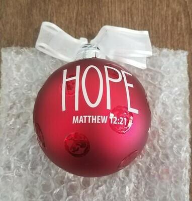Christmas Glass Ornament - Hope