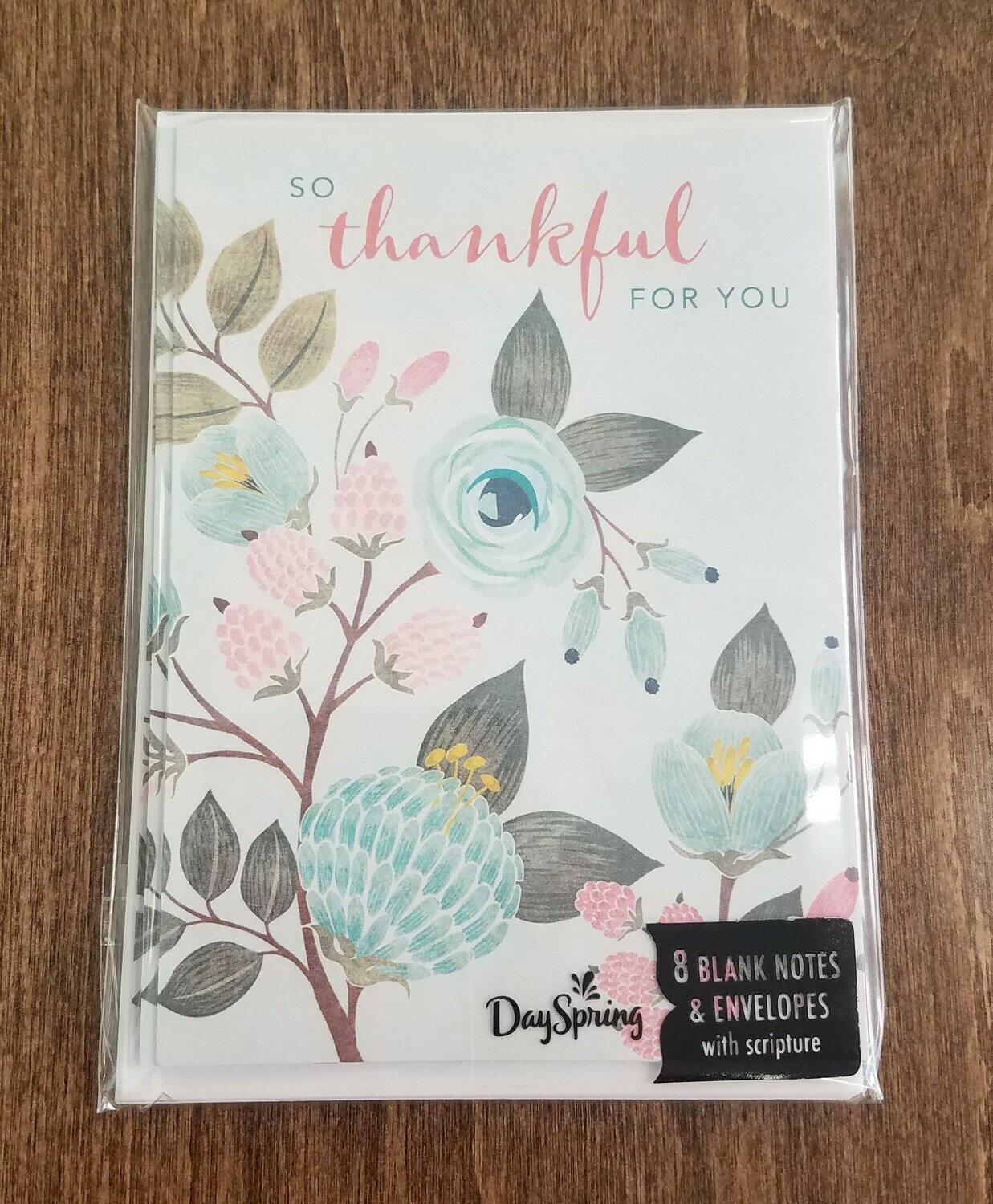 So Thankful For You Card and Envelope Package