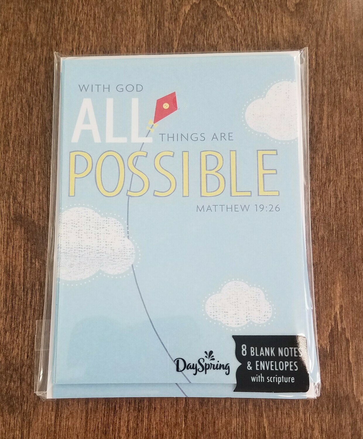 With God all Things are Possible Card and Envelope Package