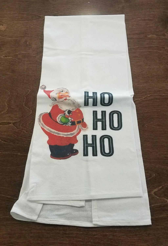 Vintage Santa HoHoHo Tea Towel