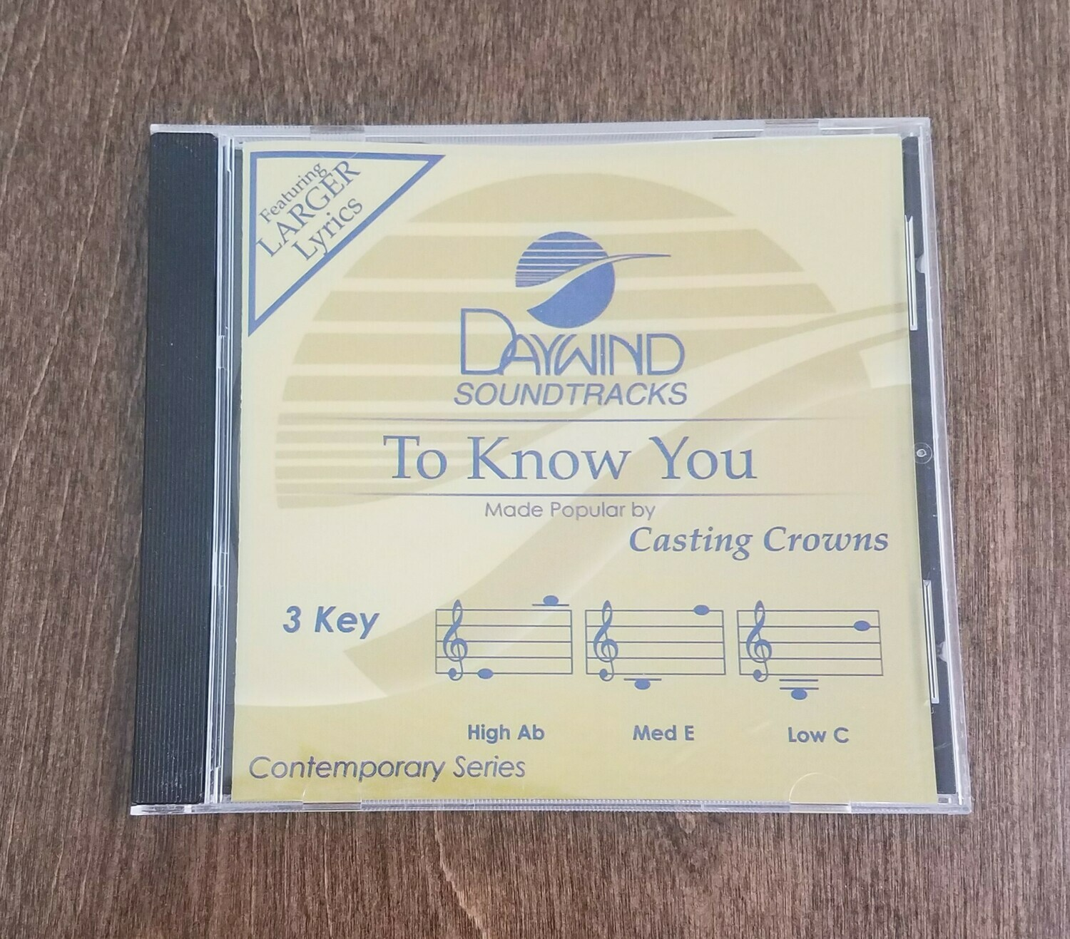 To Know You, Accompaniment CD