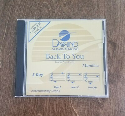 Back to You, Accompaniment CD