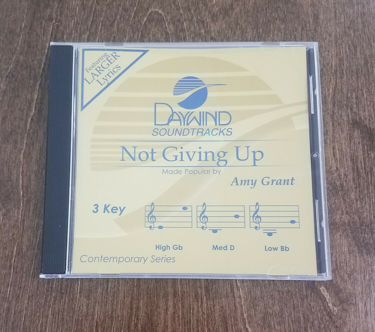 Not Giving Up, Accompaniment CD