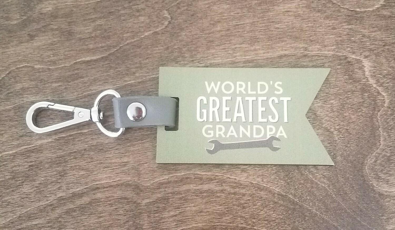 World's Greatest Grandpa Key Chain