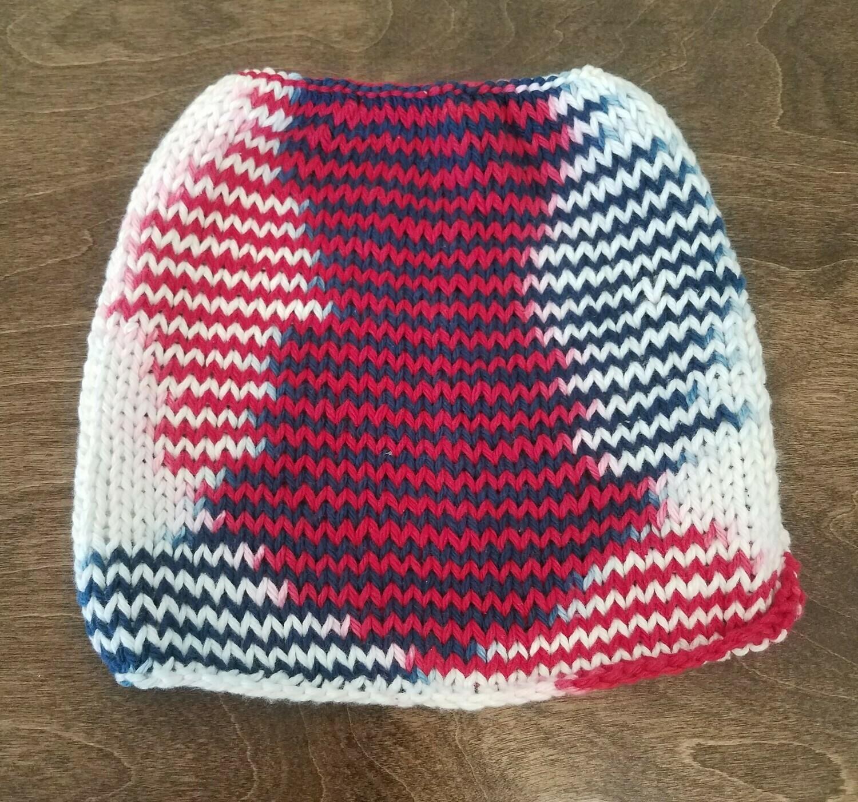 Handmade Red, White, and Blue Potholder