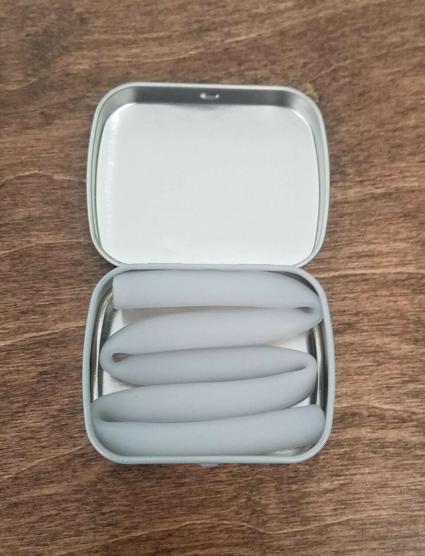 X-Long Silicone Reusable Straws - Fog