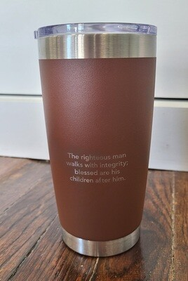 Righteous Man Brown Steel Mug