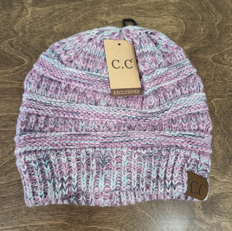 CC Diagonal Stitch Beanie - Multi Lavender