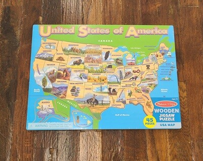 USA Wooden Jigsaw Puzzle