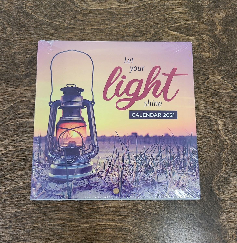 Let Your Light Shine Mini Wall Calendar of 2021