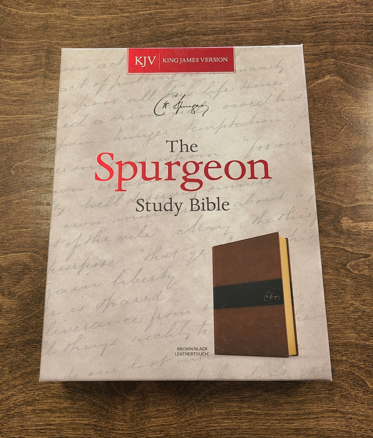 KJV Spurgeon Study Bible - Soft Brown/Black LeatherTouch