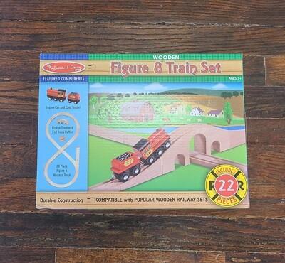 Melissa and Doug's Wooden Figure 8 Train Set