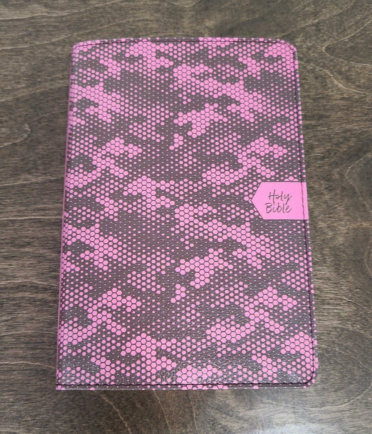CSB On-The-Go Pink Camouflage Leather Bible