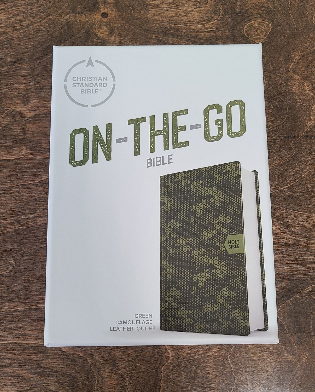 CSB On-The-Go Bible - Green Camouflage Soft LeatherTouch