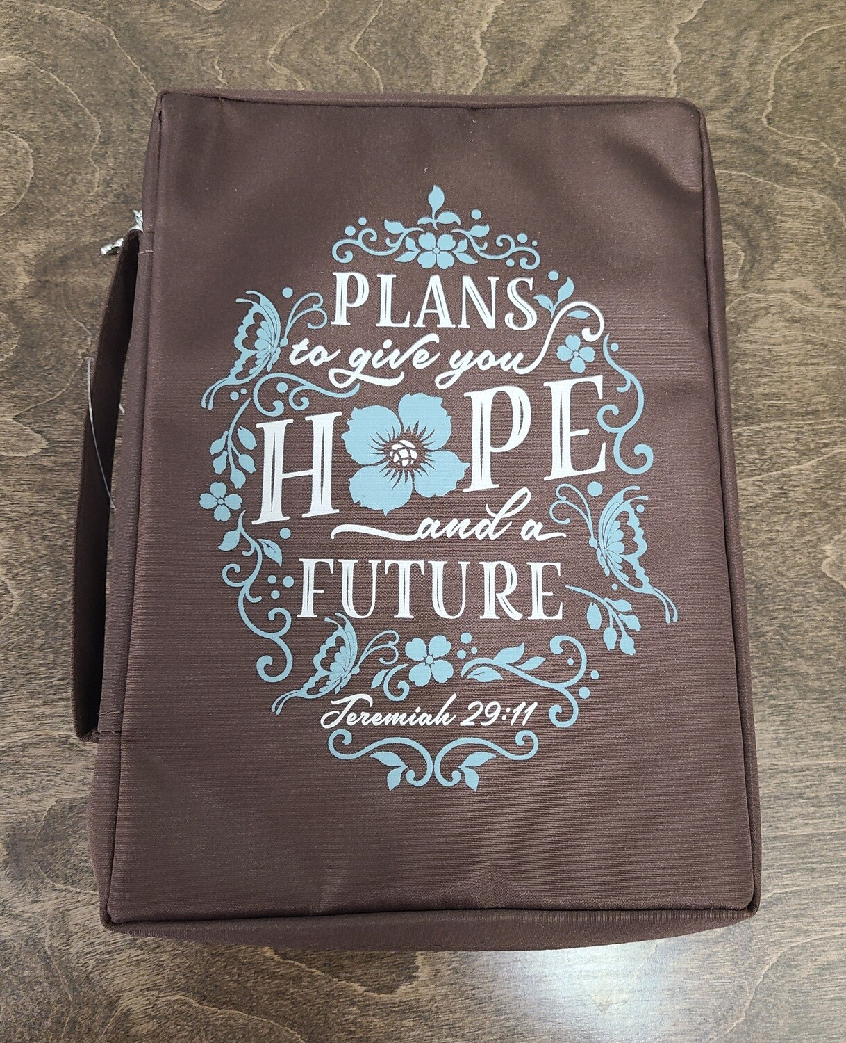 Plans to Give You Hope and Future Jeremiah 29:11 Medium Brown Bible Cover