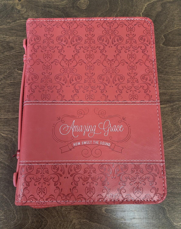 Amazing Grace Coral Fashion Medium Bible Cover