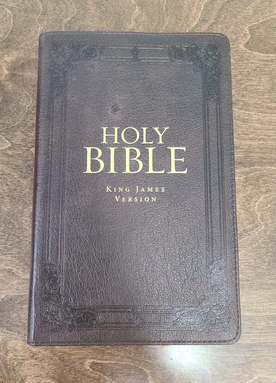 Black Premium Leather KJV Gift and Award Bible