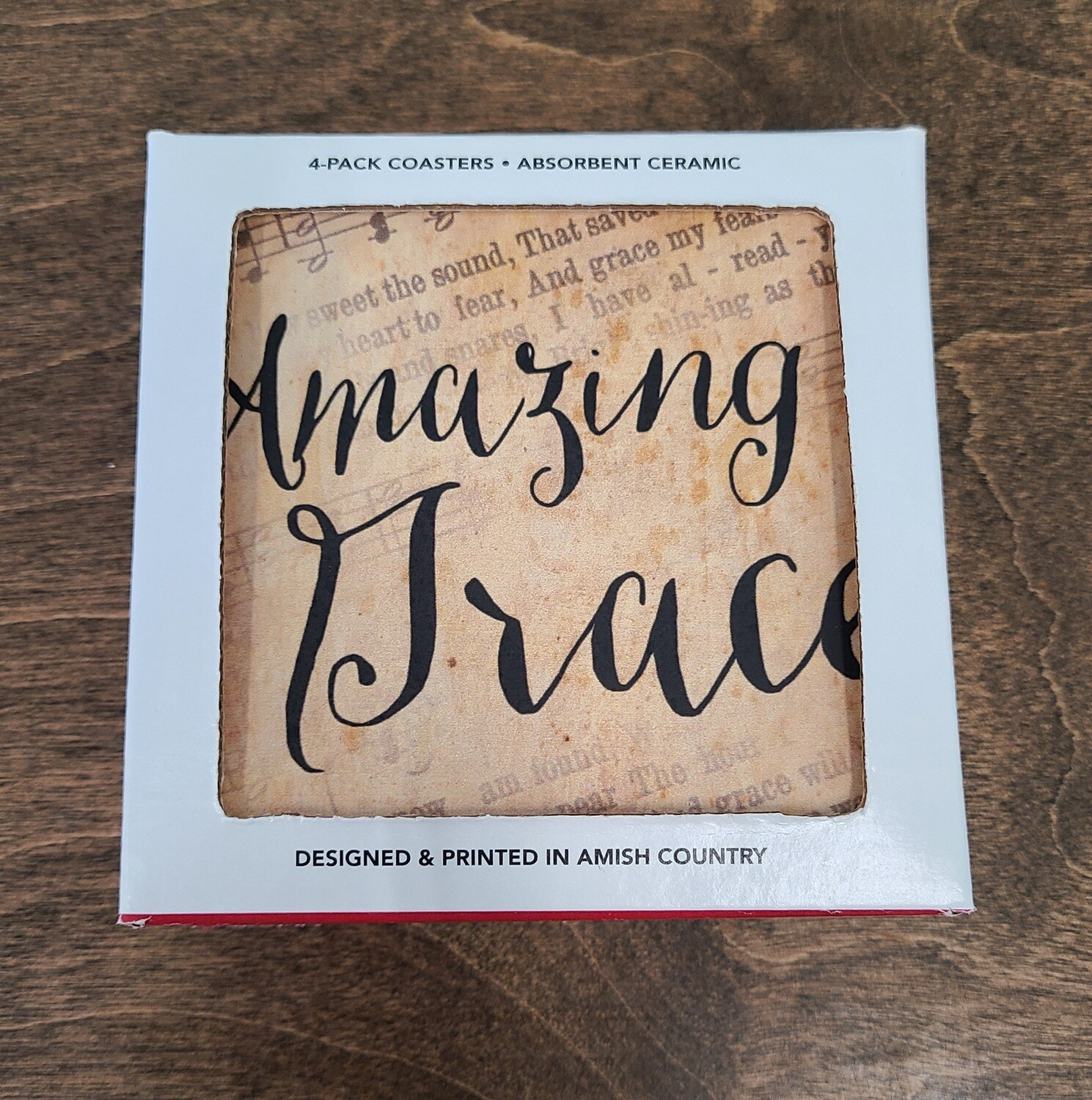 Amazing Grace 4 Count Coaster Pack