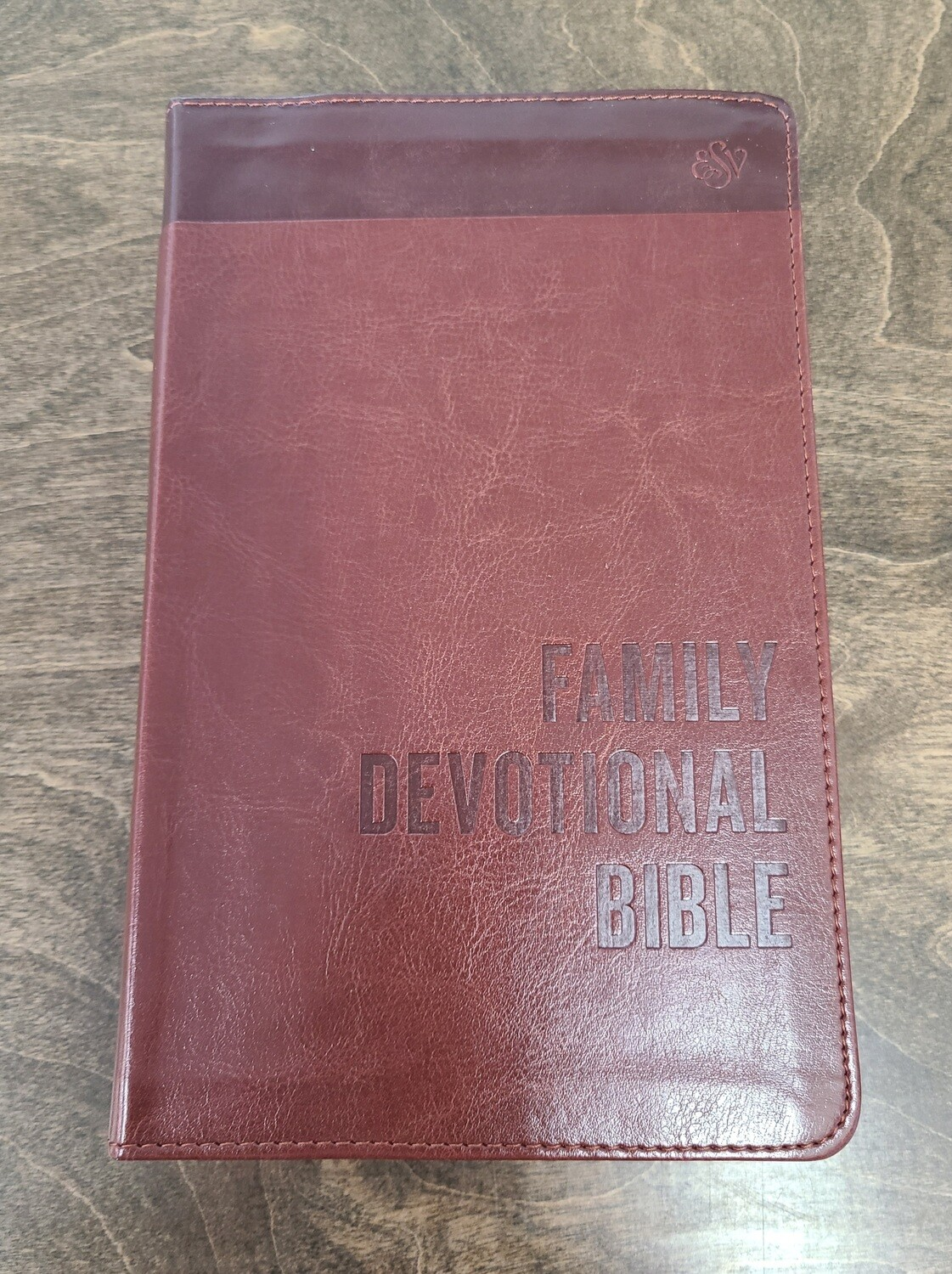 ESV Family Devotional Bible - Brown Leather Imitation