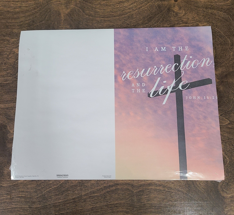 I Am The Resurrection Bulletin