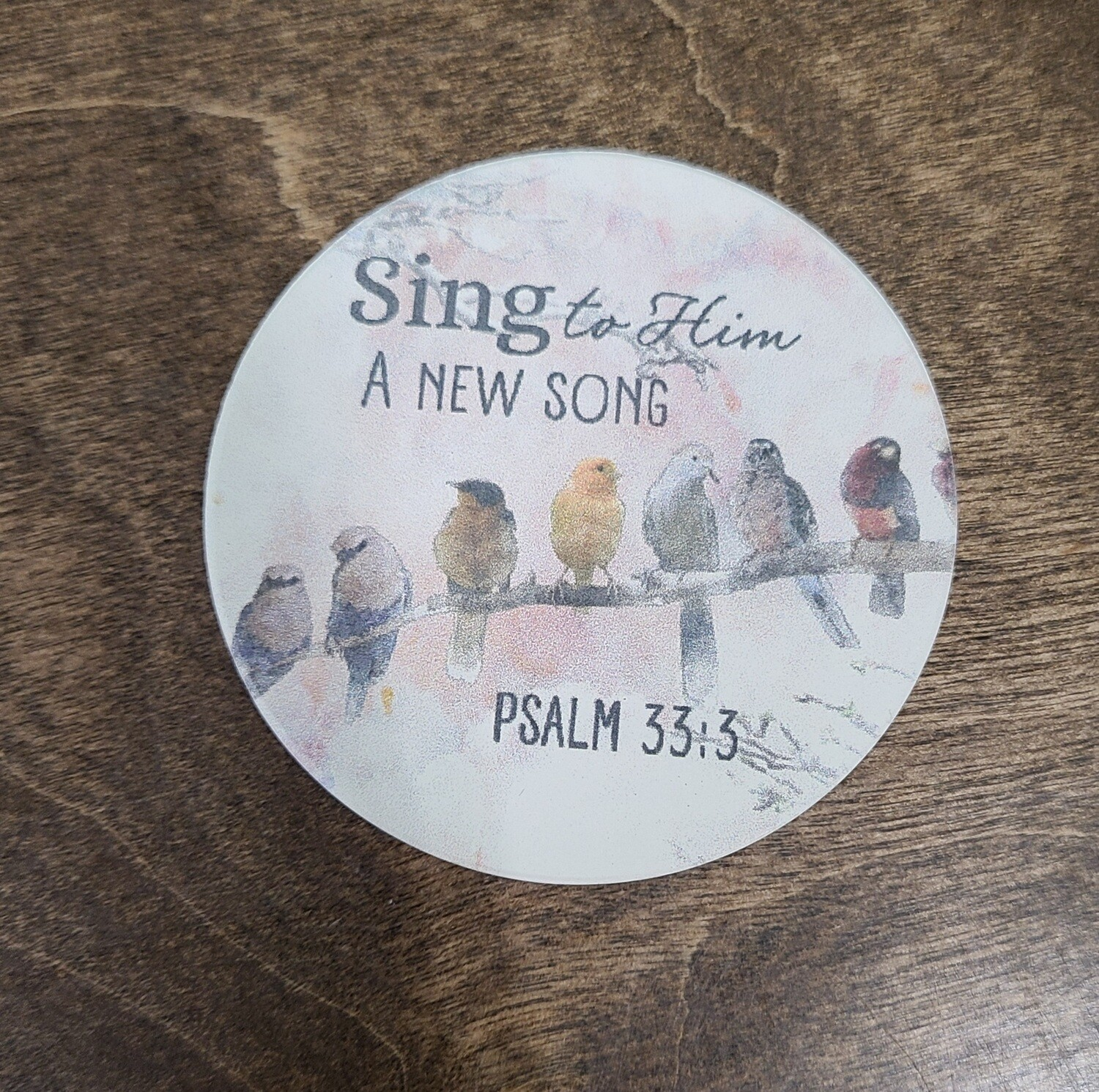 Sing to Him a New Song Car Coaster