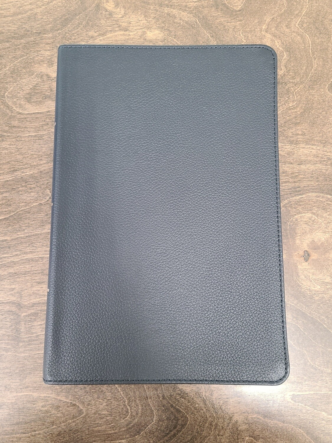CSB Holman Giant Print Reference Bible - Black Genuine Leather
