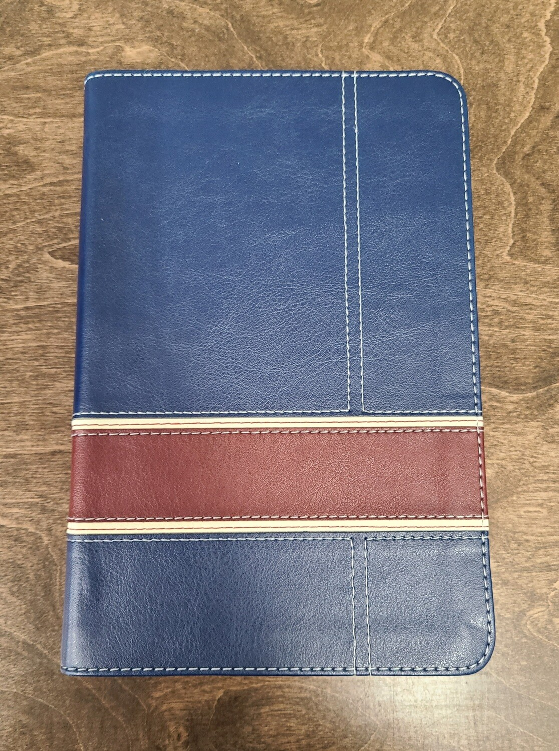 HCSB The Military Families Bible - Navy/Crimson LeatherTouch