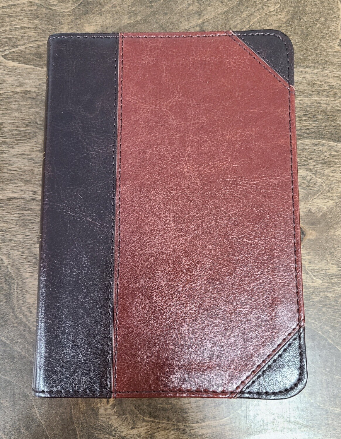 ESV Large Print Compact Brown/Cordovan Trutone Leather Bible