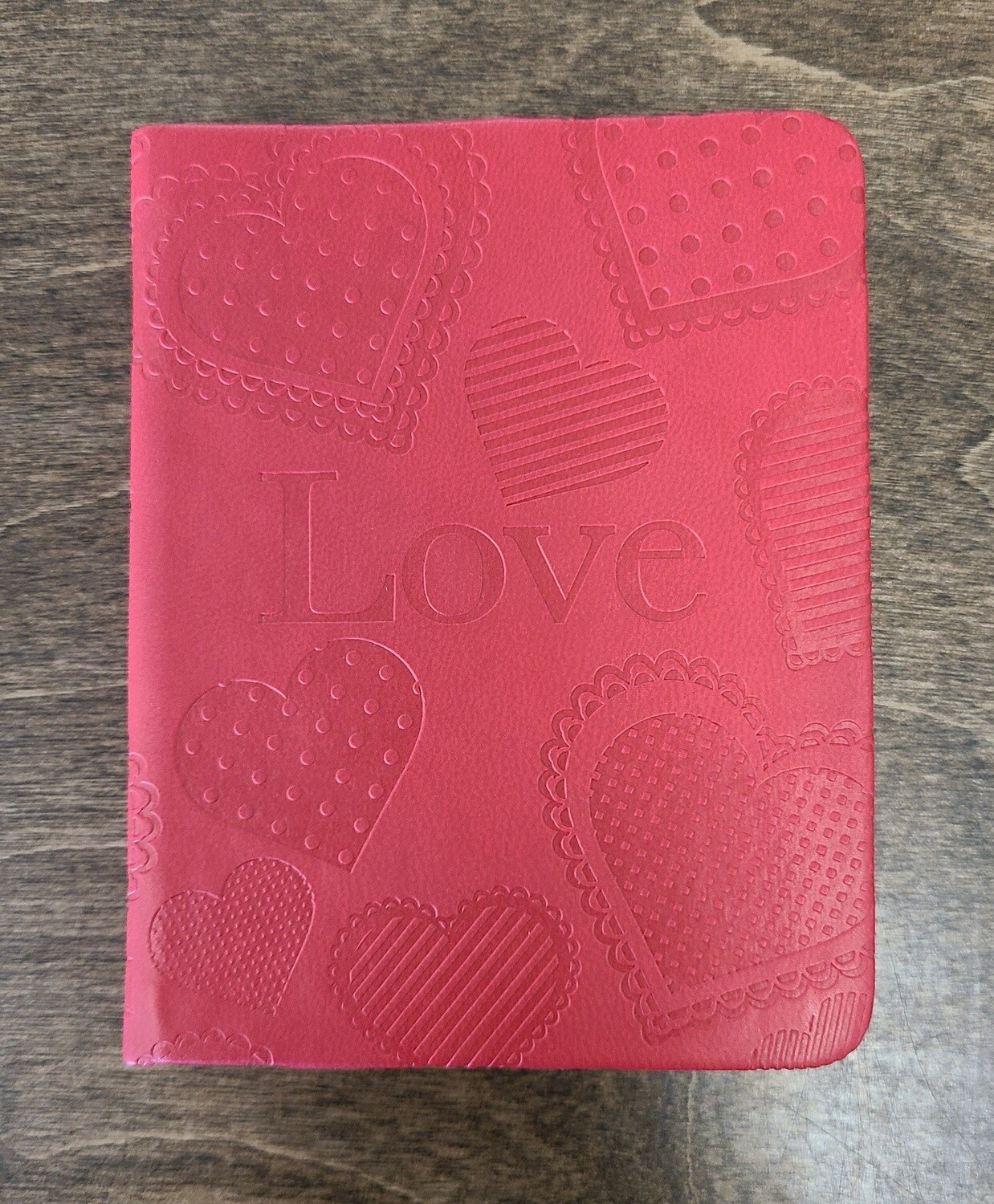 Love Pocket Inspirations Faux Red Leather Notebook