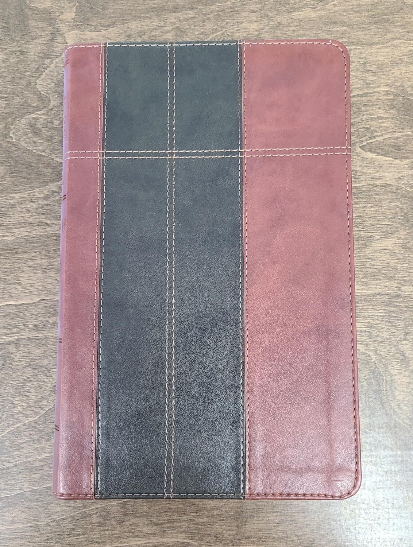 KJV Study Bible Thumb-Indexed Edition - Chocolate/Brown Soft Imitation Leather