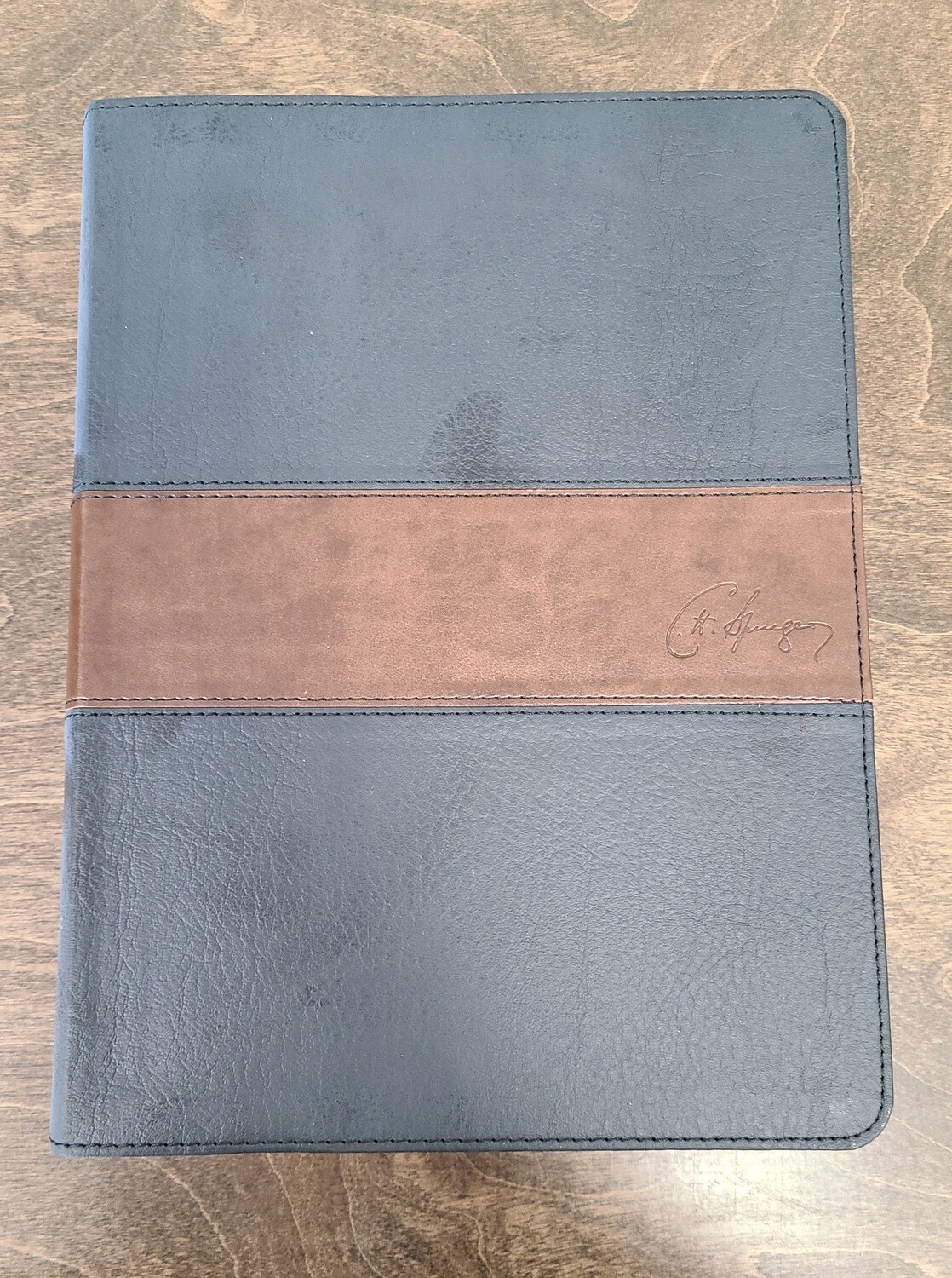 CSB Spurgeon Study Bible - Black/Brown LeatherTouch