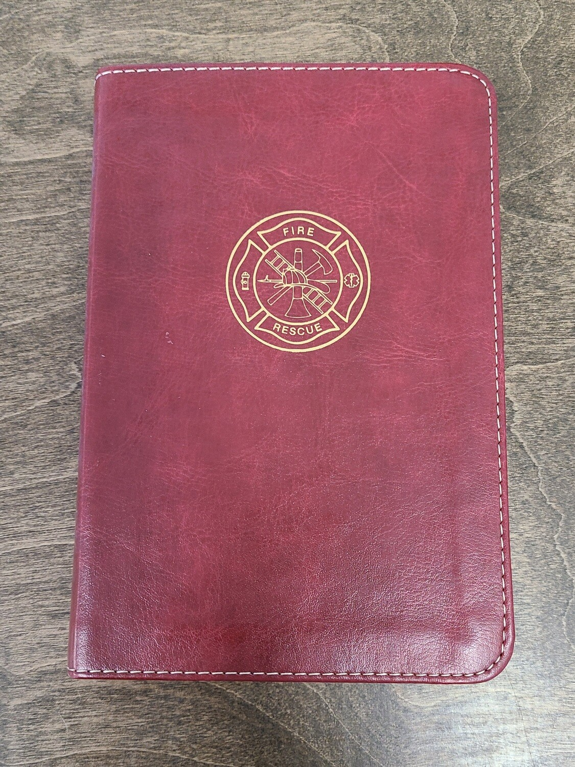 CSB Firefighter's Bible - Burgundy LeatherTouch